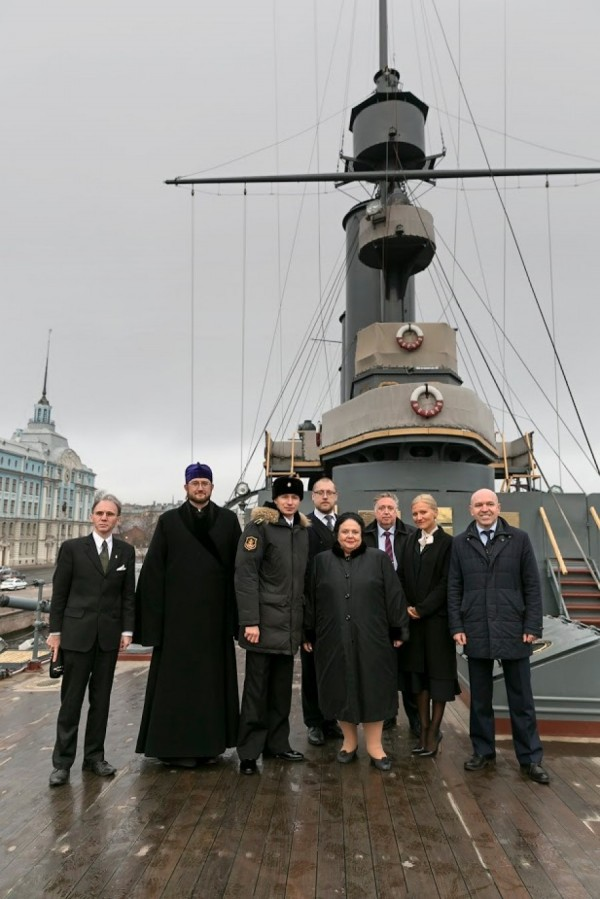 2020-05-24  The Head of the House of Romanoff sent greetings to the crew of the cruiser Aurora on the 120th anniversary of its launching